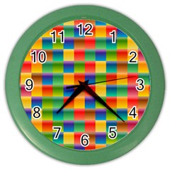 Background Colorful Abstract Color Wall Clock