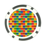 Background Colorful Abstract Poker Chip Card Guard (10 pack) Front