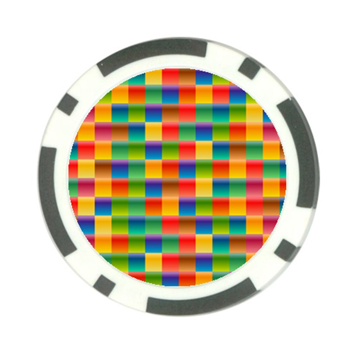 Background Colorful Abstract Poker Chip Card Guard (10 pack)