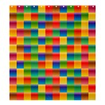 Background Colorful Abstract Shower Curtain 66  x 72  (Large)  58.75 x64.8  Curtain