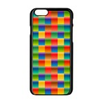 Background Colorful Abstract iPhone 6/6S Black Enamel Case Front