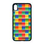 Background Colorful Abstract iPhone XR Seamless Case (Black) Front