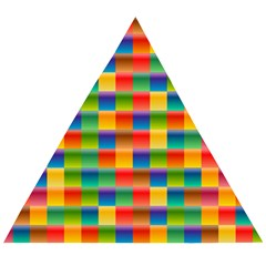Background Colorful Abstract Wooden Puzzle Triangle