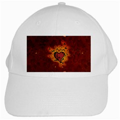 Beautiful Heart With Leaves White Cap