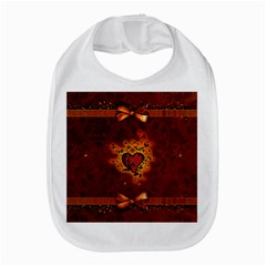 Beautiful Heart With Leaves Bib