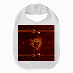 Beautiful Heart With Leaves Bib Front