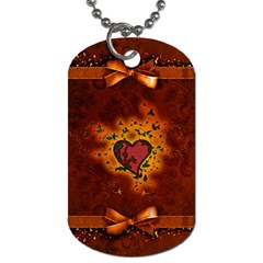 Beautiful Heart With Leaves Dog Tag (one Side)