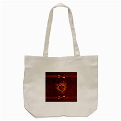 Beautiful Heart With Leaves Tote Bag (cream) by FantasyWorld7