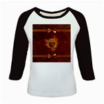 Beautiful Heart With Leaves Kids Baseball Jerseys Front