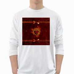 Beautiful Heart With Leaves Long Sleeve T-Shirt