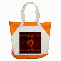 Beautiful Heart With Leaves Accent Tote Bag