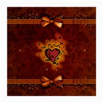 Beautiful Heart With Leaves Medium Glasses Cloth (2 Sides) Front