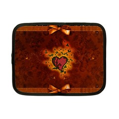 Beautiful Heart With Leaves Netbook Case (Small)