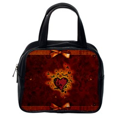 Beautiful Heart With Leaves Classic Handbag (One Side)