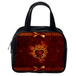 Beautiful Heart With Leaves Classic Handbag (Two Sides) Back