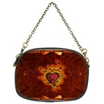 Beautiful Heart With Leaves Chain Purse (One Side) Front