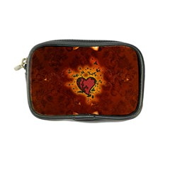 Beautiful Heart With Leaves Coin Purse