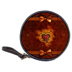 Beautiful Heart With Leaves Classic 20-CD Wallets
