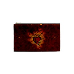 Beautiful Heart With Leaves Cosmetic Bag (Small)