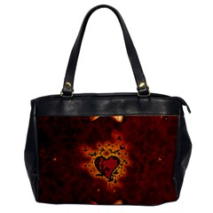 Beautiful Heart With Leaves Oversize Office Handbag