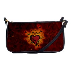 Beautiful Heart With Leaves Shoulder Clutch Bag