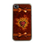 Beautiful Heart With Leaves iPhone 4 Case (Clear) Front