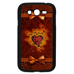 Beautiful Heart With Leaves Samsung Galaxy Grand Duos I9082 Case (black)