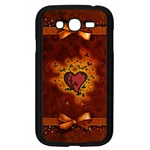 Beautiful Heart With Leaves Samsung Galaxy Grand DUOS I9082 Case (Black) Front