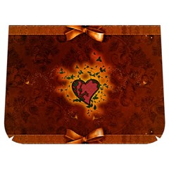Beautiful Heart With Leaves Buckle Messenger Bag