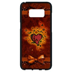 Beautiful Heart With Leaves Samsung Galaxy S8 Black Seamless Case