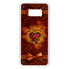 Beautiful Heart With Leaves Samsung Galaxy S8 Plus White Seamless Case