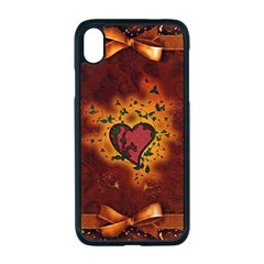 Beautiful Heart With Leaves iPhone XR Seamless Case (Black)