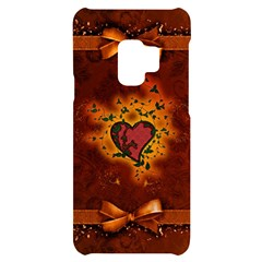 Beautiful Heart With Leaves Samsung S9 Black UV Print Case