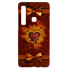 Beautiful Heart With Leaves Samsung A9 Black UV Print Case