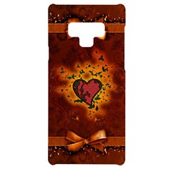 Beautiful Heart With Leaves Samsung Note 9 Black UV Print Case