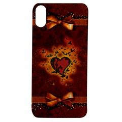 Beautiful Heart With Leaves Apple iPhone XS TPU UV Case