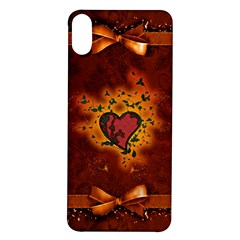 Beautiful Heart With Leaves iPhone X/XS Soft Bumper UV Case