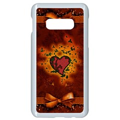 Beautiful Heart With Leaves Samsung Galaxy S10e Seamless Case (White)