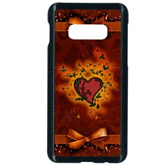 Beautiful Heart With Leaves Samsung Galaxy S10e Seamless Case (Black)