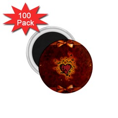 Beautiful Heart With Leaves 1.75  Magnets (100 pack)