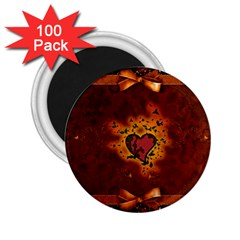 Beautiful Heart With Leaves 2.25  Magnets (100 pack)