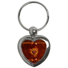 Beautiful Heart With Leaves Key Chain (Heart)