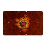 Beautiful Heart With Leaves Magnet (Rectangular) Front