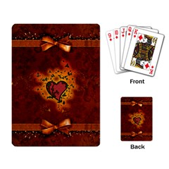 Beautiful Heart With Leaves Playing Cards Single Design (Rectangle)