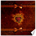 Beautiful Heart With Leaves Canvas 20  x 20  20 x20  Canvas - 1