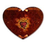 Beautiful Heart With Leaves Heart Mousepads Front