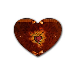 Beautiful Heart With Leaves Heart Coaster (4 pack)