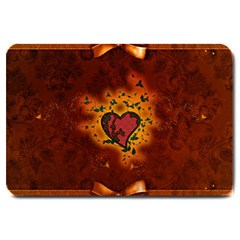 Beautiful Heart With Leaves Large Doormat