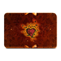 Beautiful Heart With Leaves Plate Mats