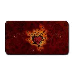 Beautiful Heart With Leaves Medium Bar Mats by FantasyWorld7
